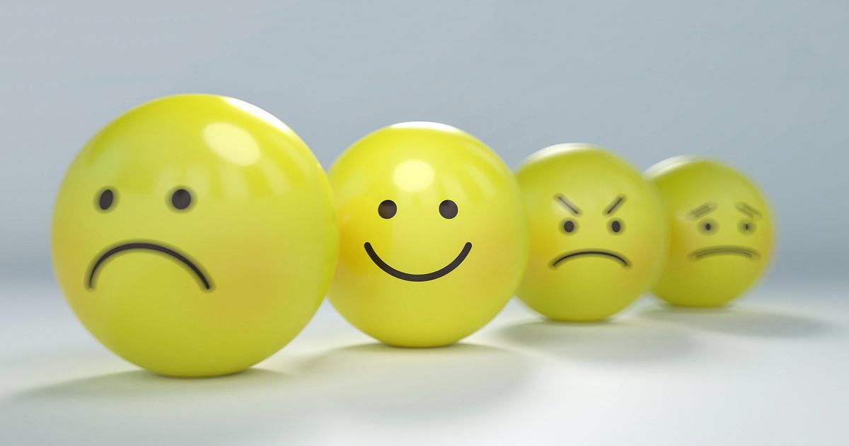 smileys émotions triste joie étonnement