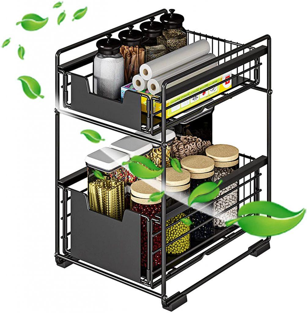 organiseur cuisine 2 niveaux désencombrement logement